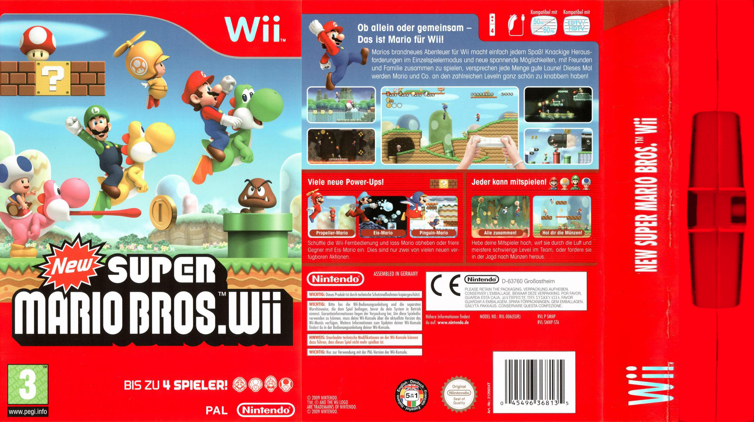 Big Box Collection Papercraft Model For New Super Mario Bros Wii