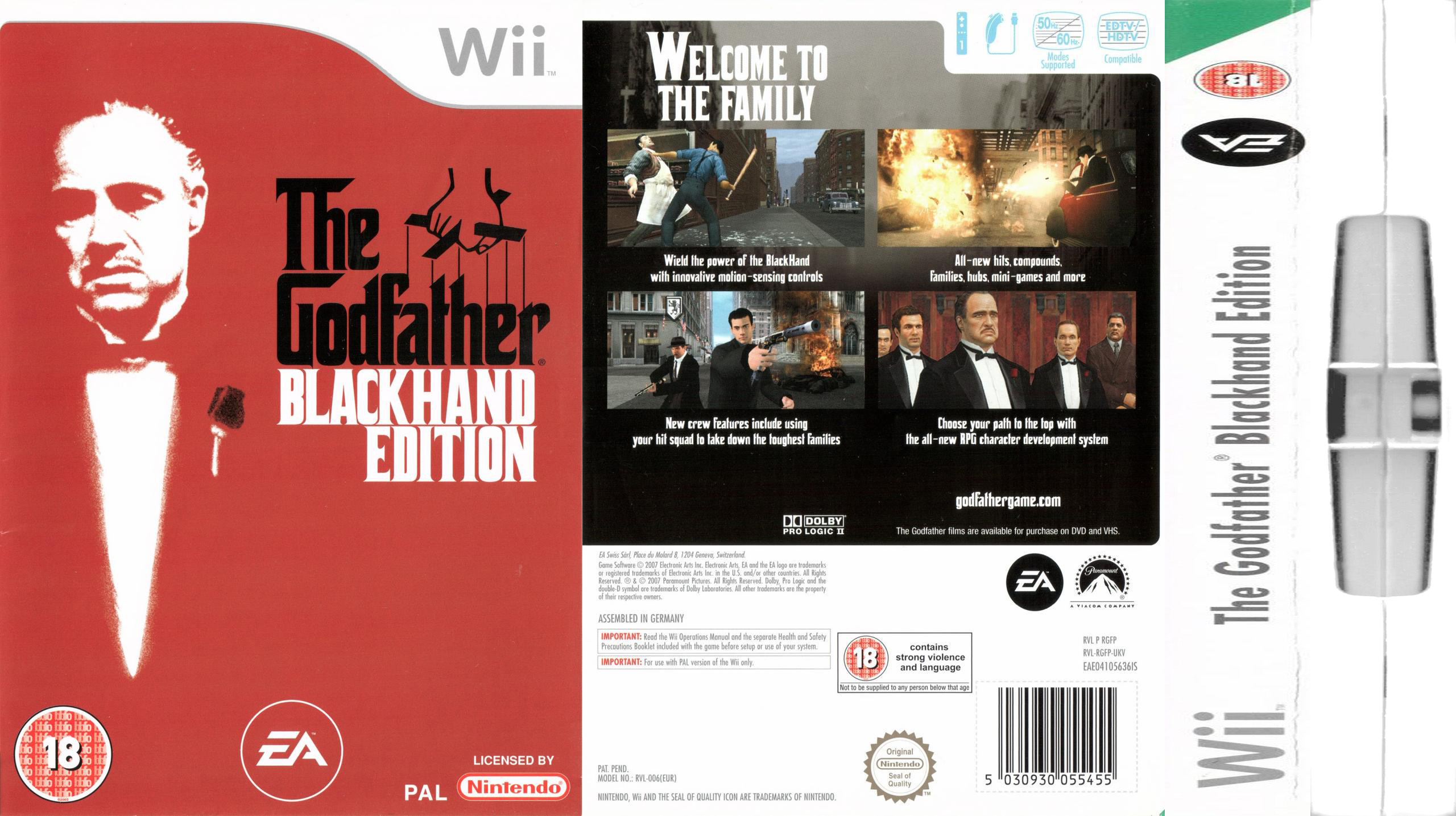 Big Box Collection: Papercraft model for The Godfather (Blackhand Edition,  Wii, 2007)